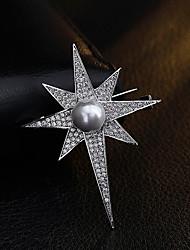 economico -Da donna Altro Spille Perle finte Strass Personalizzato Originale Euramerican Placcato in oro Lega Di forma geometrica Gioielli Per