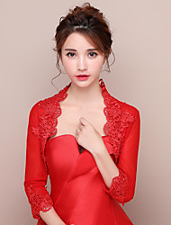 Women's Wrap Shrugs Lace Tulle Wedding Party/Evening Lace