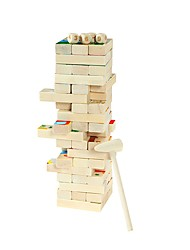 baratos -Blocos de Construir / Blocos Lógicos / Brinquedos de Empilhar 1pcs Equilíbrio Clássico Dom