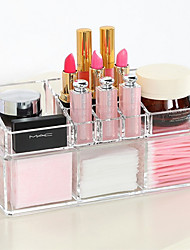 cheap -Acrylic Complex Combined Double Layer Makeup Brush Pot Cosmetics Storage Organizer 2PCS Set