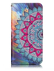 cheap -For iPhone X iPhone 8 Case Cover Wallet with Stand Flip Embossed Pattern Magnetic Full Body Case Mandala Hard PU Leather for Apple iPhone