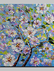 cheap -Hand-Painted Modern Abstract Trees Flowers Oil Painting On Canvas Wall Art Picture For Home Decoration Ready To Hang