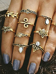 cheap -10pcs/set Midi Rings Jewelry Unique Design Fashion Vintage Alloy Jewelry For Wedding Party Daily Casual 1set 1pc
