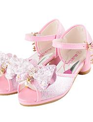 Da ragazza-scarpe da sposa-Matrimonio Formale Casual Serata e festa-Comoda Innovativo Scarpe Flower Girl-Piatto-Finta pelle-