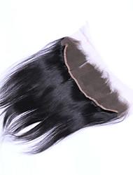 abordables -Cheveux Brésiliens 4x13 Fermeture Droit Partie gratuite / Moyen Partie / 3 Partie Dentelle Suisse Cheveux humains
