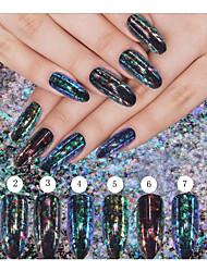 Недорогие -1box Глянцевые Эффект разбитого стекла Разные цвета Дизайн ногтей 0.002kg/коробка Декор для нейл-арта
