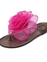 Недорогие -Черный Красный-Для женщин-Повседневный-ПолиуретанУдобная обувь-Сандалии