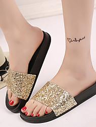 Women's Sandals Slipper Flip-flops Spring  Casual Beach Summer Club Shoes Comfort Dress Casual Flat Heel Sequin