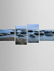 cheap -Art Print Landscape Modern Mediterranean,Four Panels Canvas Any Shape Print Wall Decor For Home Decoration