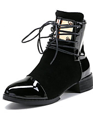 Da donna-Stivaletti-Tempo libero Ufficio e lavoro Formale-Club Shoes-Basso Quadrato-PU (Poliuretano) Scamosciato-