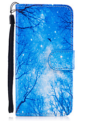 cheap -For iPhone 8 iPhone 8 Plus Case Cover Wallet Card Holder with Stand Flip Magnetic Pattern Full Body Case Tree Hard PU Leather for Apple