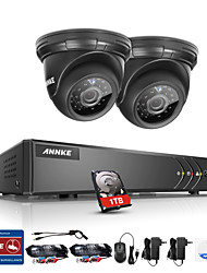 cheap -ANNKE® 4CH 2PCS TVI 720P HD 4 in 1 Video Monitor P2P Camera Weatherproof Surveillance Security System