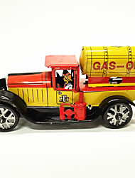 Недорогие -Игрушечные машинки Игрушка с заводом автоцистерна Ретро Автомобиль Железо Металл Винтаж Ретро ностальгический 1 pcs Куски Детские Игрушки Подарок