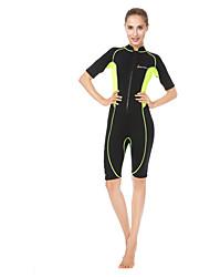 abordables -Mujer Traje de neopreno corto 3mm Neopreno Trajes de buceo Resistente a los UV Manga Corta - Surfing / Buceo / Natación Un Color / Clásico