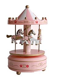 Kit de Bricolage Boîte à musique Jouets Circulaire Cheval Carrousel Pièces Unisexe Anniversaire Cadeau