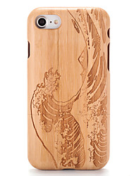 cheap -Case For Apple iPhone 7 Plus iPhone 7 Pattern Embossed Back Cover Wood Grain Cartoon Hard Wooden for iPhone 7 Plus iPhone 7 iPhone 6s