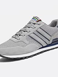 preiswerte -Herren Schuhe Kunststoff Frühling Herbst Komfort Sportschuhe Walking Kombination Für Normal Grau Blau