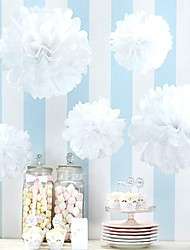 cheap -Wedding Decor (Set of 10) - 4 inch Paper Pom Tissue Flower Beter Gifts® Party Supplies