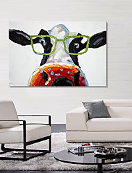 cheap -Stretched Canvas Print Animals European Style, One Panel Canvas Horizontal Print Wall Decor Home Decoration