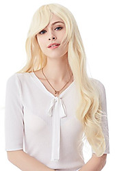 80CM Blonde Long Big Wavy Cosplay Synthetic Hair Wig for Women 10 Colors Available