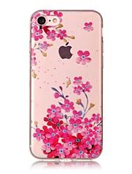 Para o iphone da maçã 7 7 mais 6s 6 mais o se 5s 5 5c caso cobrem o teste padrão hd da flor da ameixa pintado material do tpu caixa do