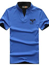 Homme Tee-shirt de Randonnée Respirable Tee-shirt Hauts/Top pour Camping / Randonnée Pêche Eté M L