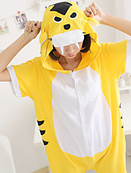 Kigurumi Pigiami Tiger Calzamaglia/Pigiama intero Feste/vacanze Pigiama a fantasia animaletto Halloween Giallo Collage Kigurumi Per Unisex