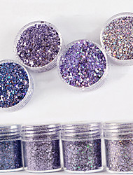 cheap -10ml Laser Light Gradient Shimmer Diamond Bright Powder Mix With Sequins Nail Gradient Laser Powder  Nail Art Decoration For Nail Polish