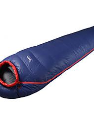 Schlafsack Mumienschlafsack Einzelbett(150 x 200 cm) -5 Enten Qualitätsdaune 700g 185X80 Camping Wasserdicht warm halten