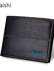 cheap -Men Bags PU Wallet Rivet for Casual Formal Outdoor Office & Career All Seasons Black Coffee Khaki