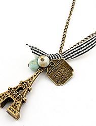 Femme Collier court /Ras-du-cou Pendentif de collier Colliers chaînes Bijoux Forme de Cercle Bijoux Alliage Basique Animal Stras Naturel
