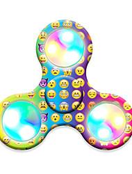Trottole Spinner mano Giocattoli Tri-Spinner Spinner del LED Plastica EDCLuce LED Stress e ansia di soccorso Giocattoli per ufficio per
