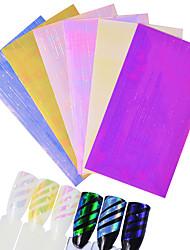 Laser couleur de bonbons 3d ongles autocollants rubans maquillage maquillage nail art design noël (couleur aléatoire)