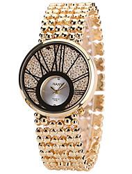 Mulheres Relógio de Moda Relógio Casual Relógios Femininos com Cristais Quartzo Lega Banda Legal Casual Criativo Prata Dourada Ouro Rose