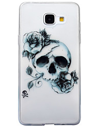 For Samsung Galaxy A3 (2016) A5 (2016) Case Cover Skull Pattern High Transparent TPU Material IMD Craft Mobile Phone Case  A3 (2017) A5 (2017)