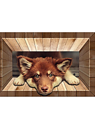 Lovely Dog 3D Stickers The Floor Tile Individuality Decorative Carpet Decal for The Bathroom Or The Living Room