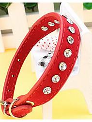 preiswerte -Katze Hund Halsbänder Sicherheit Trompetenärmel Traning Solide Nylon Purpur Fuchsia Rot