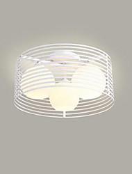 Недорогие -Кованого железа спальня свет привело потолок лампа гостиная просто современный круглый теплый свет потолок комнаты