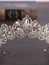 cheap -Rhinestone Alloy Tiaras Headwear with Floral 1pc Wedding Special Occasion Headpiece