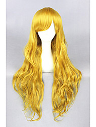 cheap -Women Synthetic Wig Long Curly Blonde Cosplay Wig Costume Wig