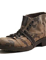 Men's Boots Spring Summer Fall Winter Comfort Nappa Leather Outdoor Office & Career Casual Work & Safety