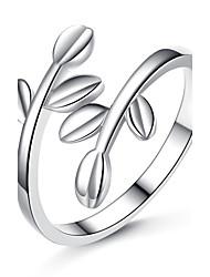 Anello Originale Placcato in platino A foglia Argento Gioielli Per Matrimonio Feste Occasioni speciali 1 pezzo