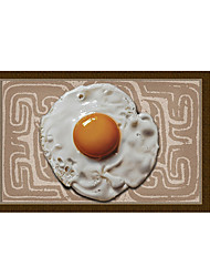 Poached Egg 3D Stickers The Floor Tile Individuality Decorative Carpet Decal for The Bathroom Or The Living Room