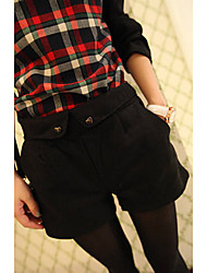 cheap -Women's Mid Rise Inelastic Wide Leg Chinos Shorts Pants,Casual Solid Fall