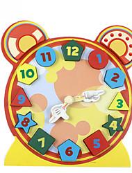 Недорогие -Конструкторы Игры с последовательностью Обучающая игрушка Игрушки Часы Дерево Детские 1 Куски