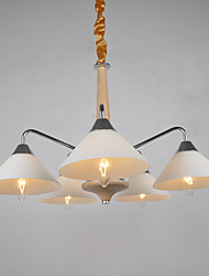 Chandelier ,  Modern/Contemporary Country Electroplated Feature for LED Wood/BambooLiving Room Bedroom Dining Room Kitchen Study