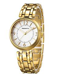 Mujer Reloj Casual Reloj de Moda Reloj de Pulsera Chino Cuarzo Resistente al Agua Aleación Banda Casual Elegant Minimalista Plata Dorado