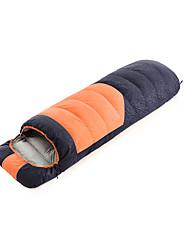 baratos -Shamocamel® Saco de dormir Retangular Penas de Pato -10~5°C Manter Quente Prova-de-Água Ultra Leve (UL) 210*80 Acampar e Caminhar Exterior