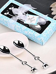 cheap -2pcs/box - Silver Chrome Demitasse Spoons Favor Beter Gifts® Life Style