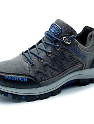 cheap -Men's Athletic Shoes Spring Fall Light Soles PU Casual Flat Heel Split Joint Black/White Black Walking